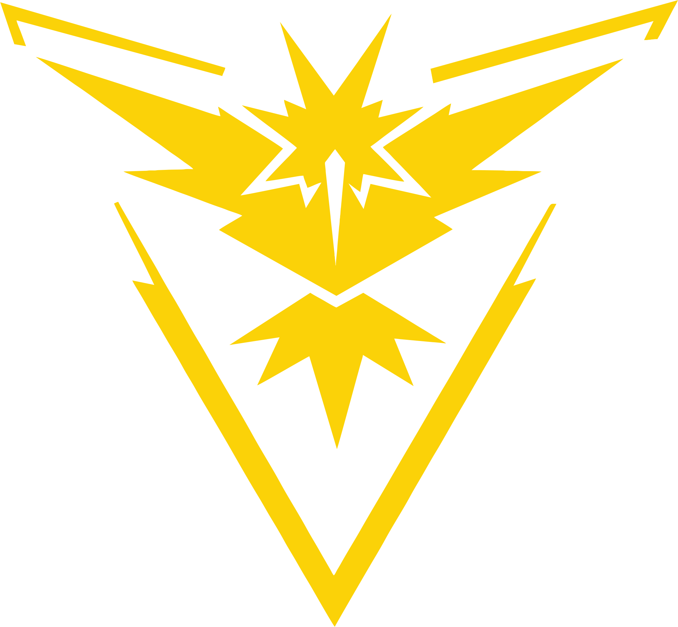 Pokemon Go Team Instinct Vinyl Sticker Decal